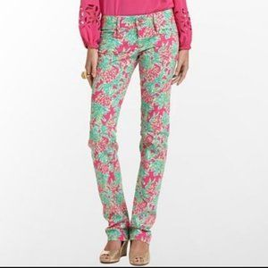 Lilly Pulitzer Pineapple Worth Straight Leg Jeans